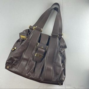 Micheal Kors brown leather tote made in Italy